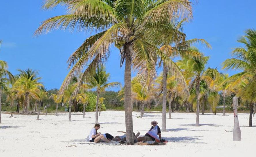 Caribbean sailing desert island