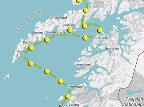 bodo svolvaer route map awa
