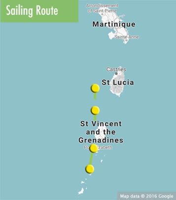 grenadines route map