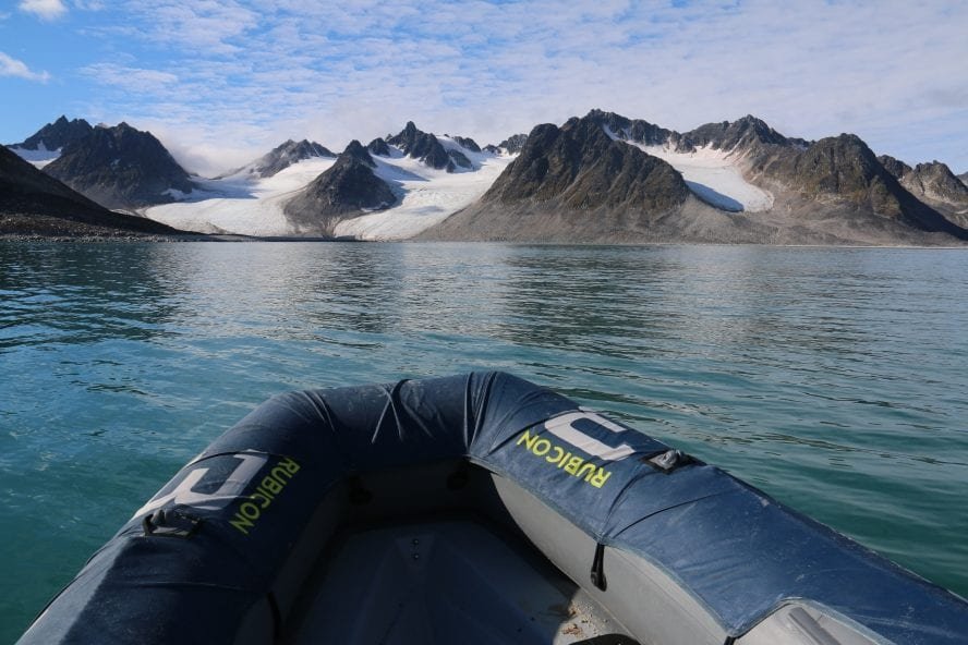 Bow of rib in spitsbergen