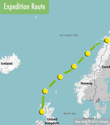 scotland faroes norway route map