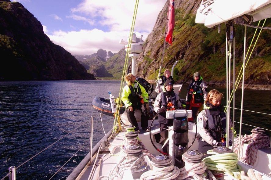 Crew aboard in Lofotens
