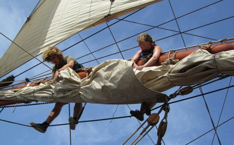 Tall ship sailing Transatlantic – Photo by Another World Adventures