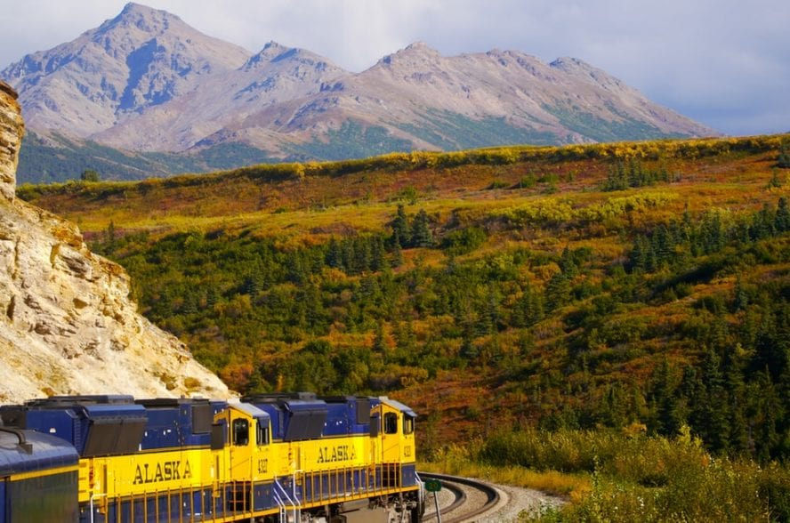 Photo of a train in Alaska by Anna Tremewan on Unsplash