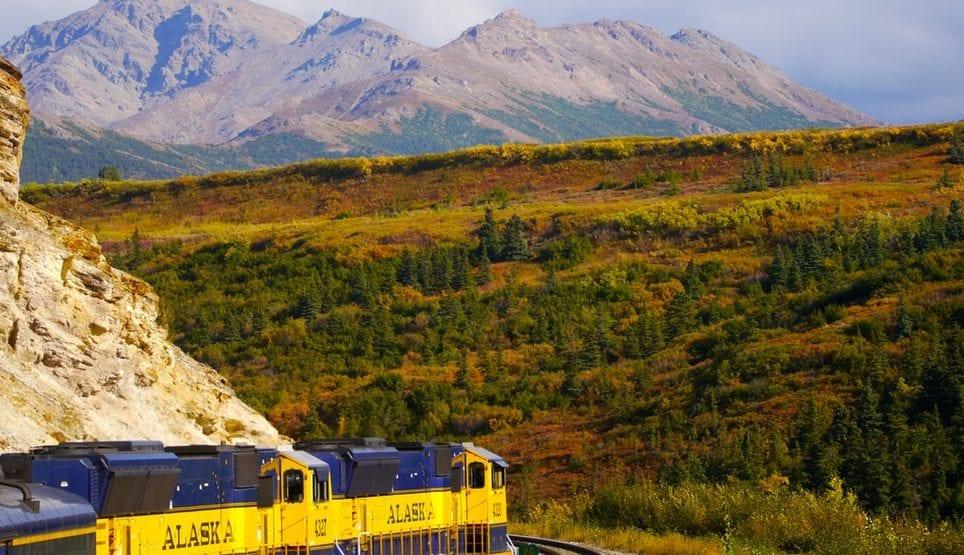 Photo of a train in Alaska by Anna Tremewan on Unsplash