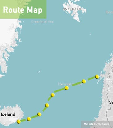 Adventure- sailing -iceland-and-norway-map