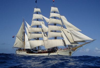 Pacific Voyage_Tall ship at sea