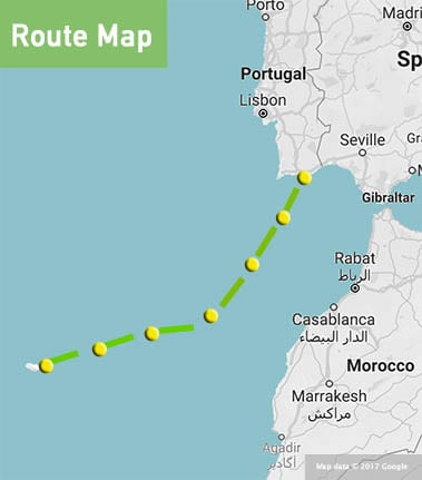 portugal-to-canaries-route-map