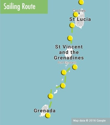 sailing-grenada-to-st-lucia-route-map