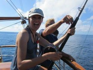 Sail Across the Atlantic Ocean – Join Transatlantic Voyages Tori Howse Fishing
