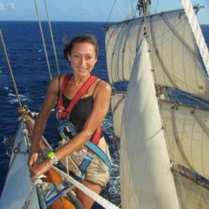 Larissa-Clark-sailing-across-the-Atlantic-Ocean