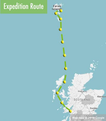 Scotland-to-Faroes-route-map