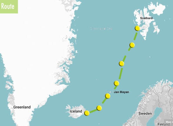 svalbard-iceland-route-map
