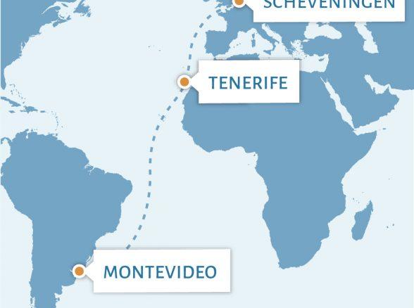 Scheveningen – Tenerife – Montevideo